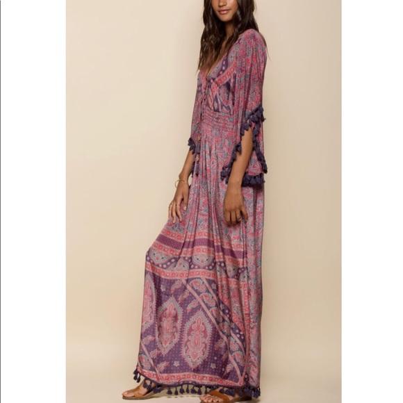 84e9bf342 $163 RAGA electric tassel maxi dress. M_5b5240175a9d21eb30ac5cee